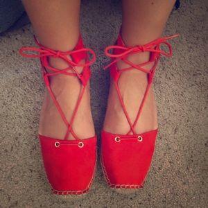 🌺 Red Merona Espadrilles 🌺